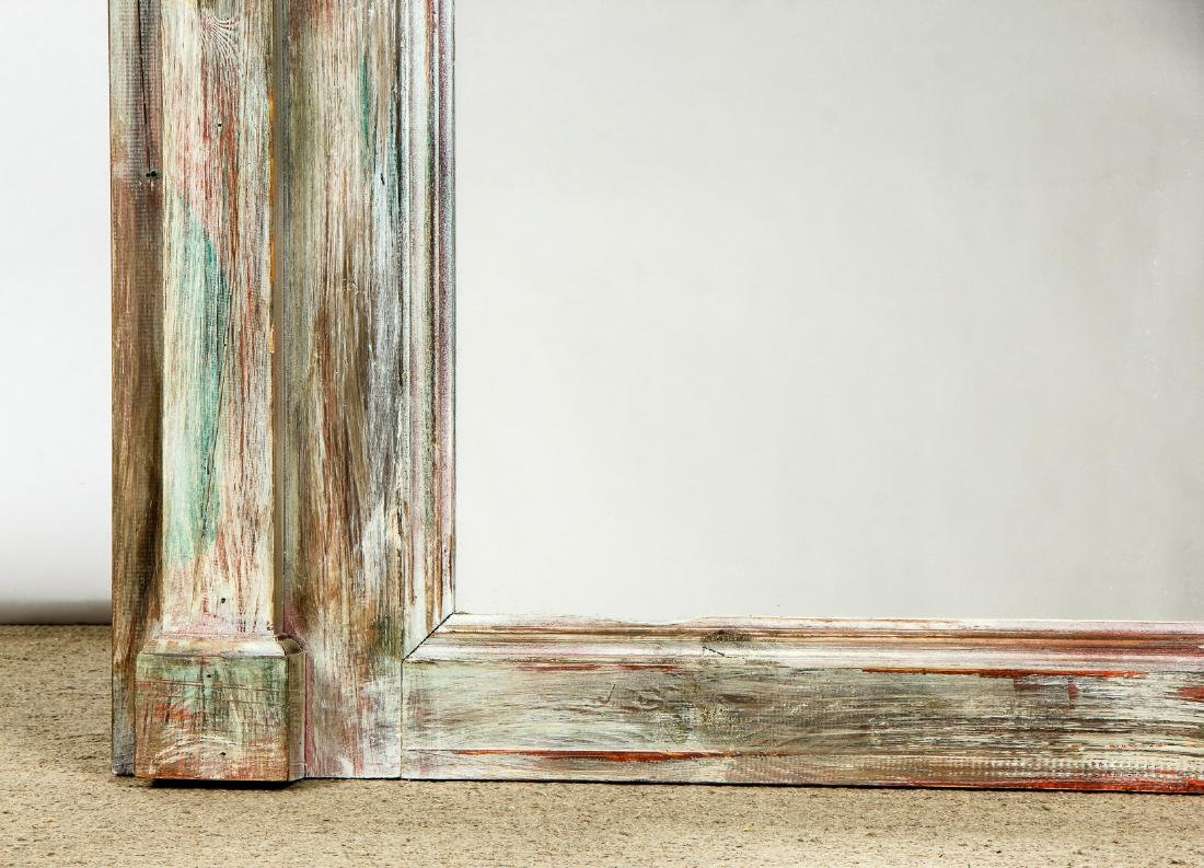 """Large Modern Painted Mirror: Ht 72"""" - 3"""