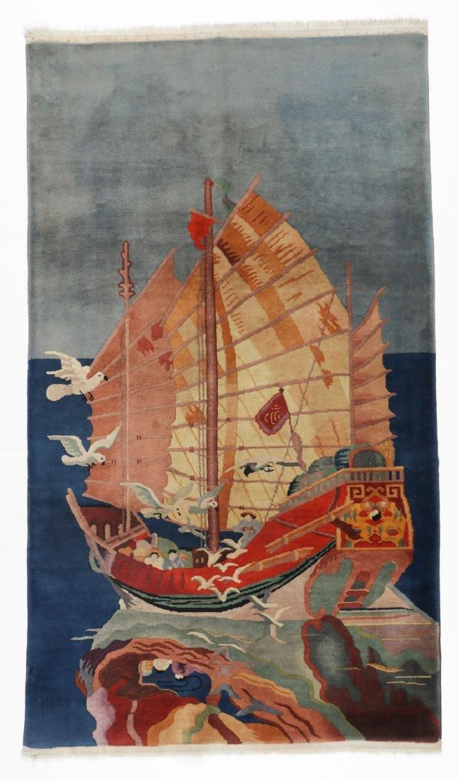 Semi-Antique Pictorial Rug, China: 4'0'' x 7'0''