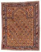 Antique Shirvan Rug, Caucasus: 3'8'' x 4'7''