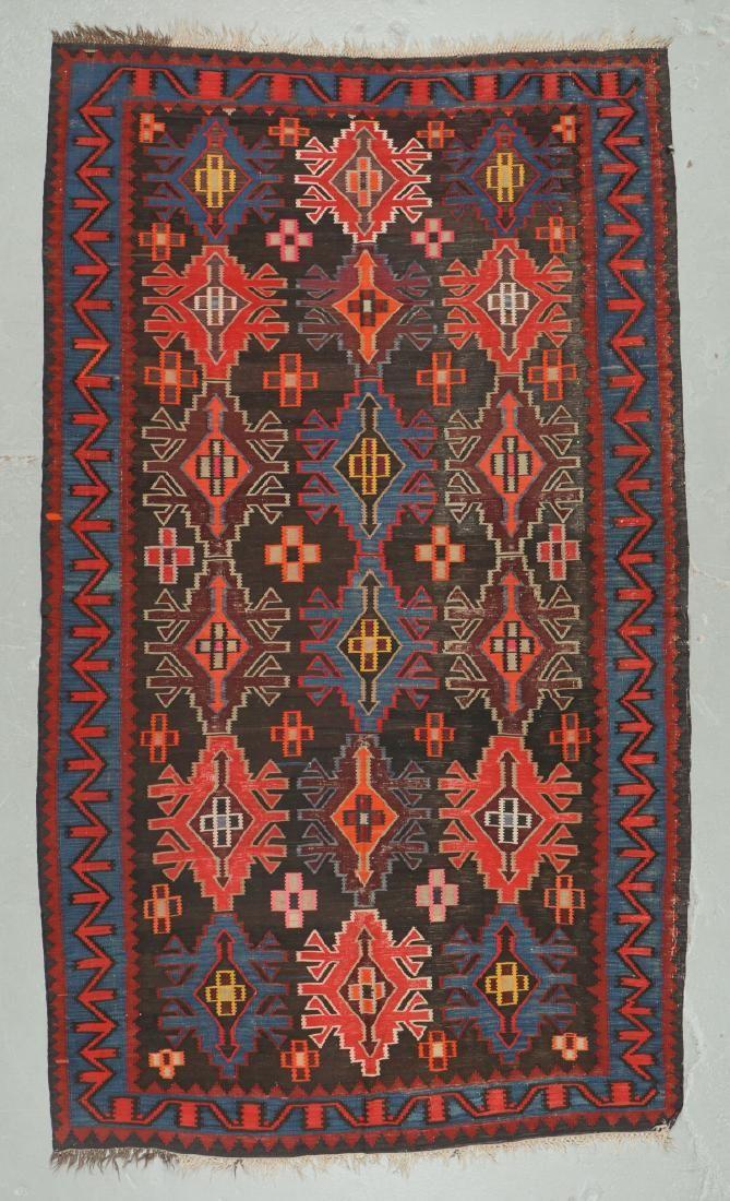 Antique Kuba Kilim, Caucasus: 6'2'' x 10'5''