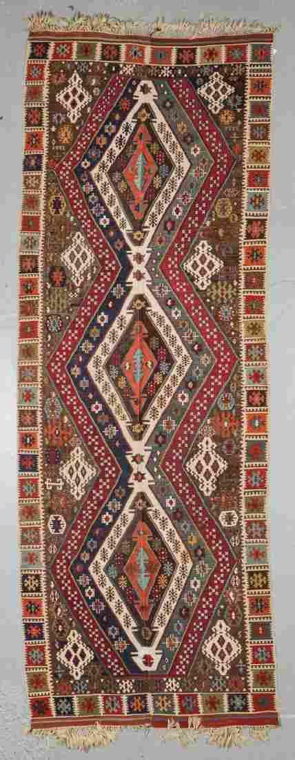 Antique East Anatolian Rashwan Kilim: 5'3'' x 14'6''