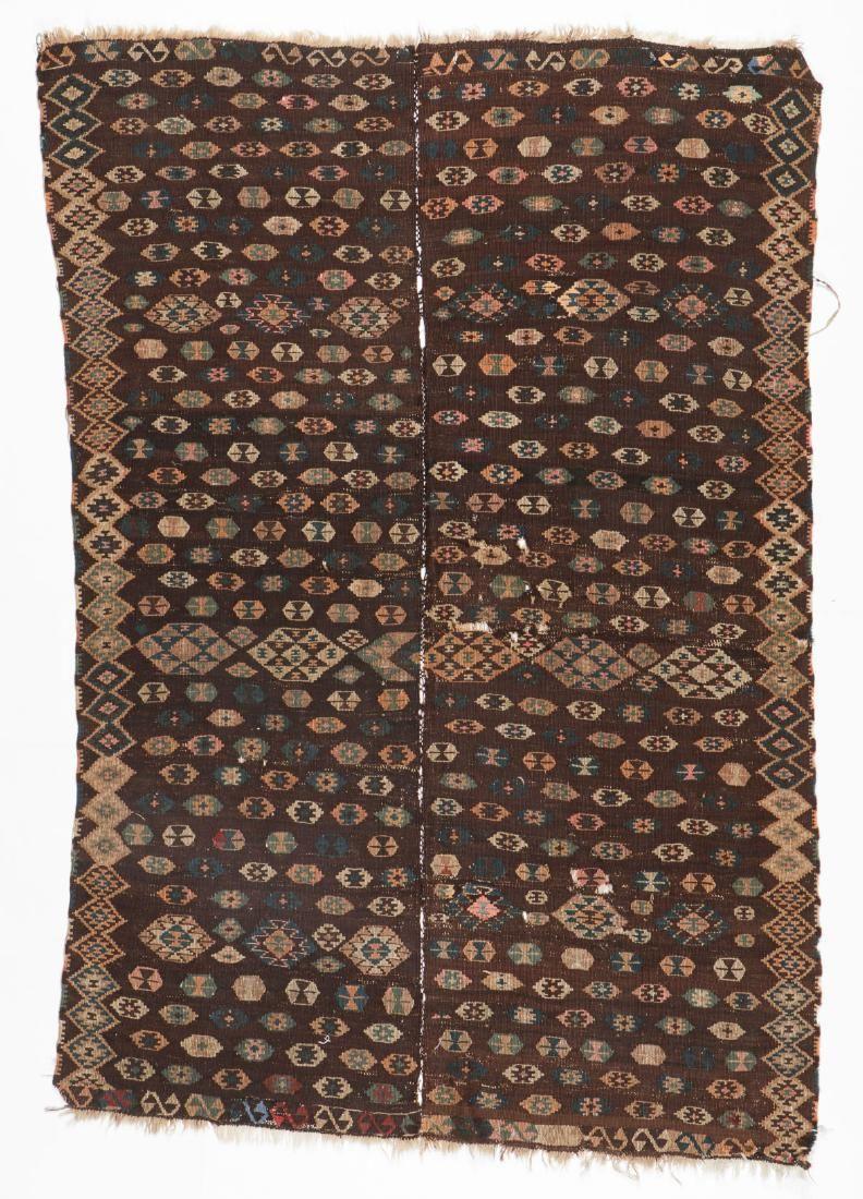 Antique East Anatolian Kurd Kilim, Turkey: 5'2'' x