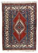 Vintage Azeri Rug, Turkey: 4'9'' x 6'7''