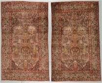 Pair of Lavar Kerman Rugs, Persia, late 19th c