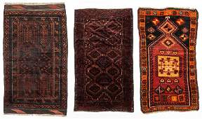 3 Old Afghan & Anatolian Small Rugs