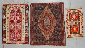 Semi-Antique Turkish, Persian, Balkan Kilims (3)