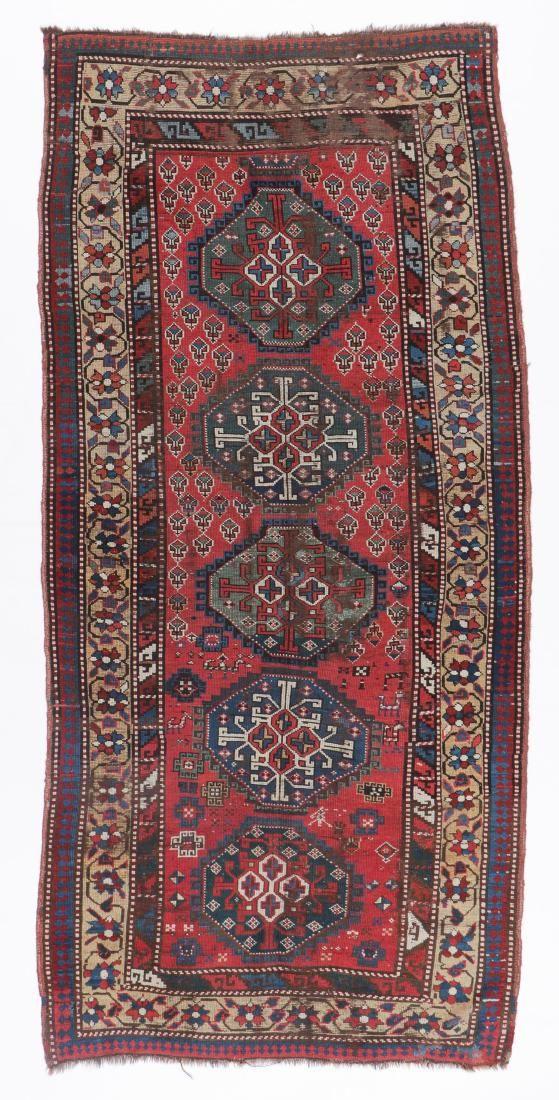 Antique West Persian Kurd Rug, Persia: 4'0'' x 8'7''