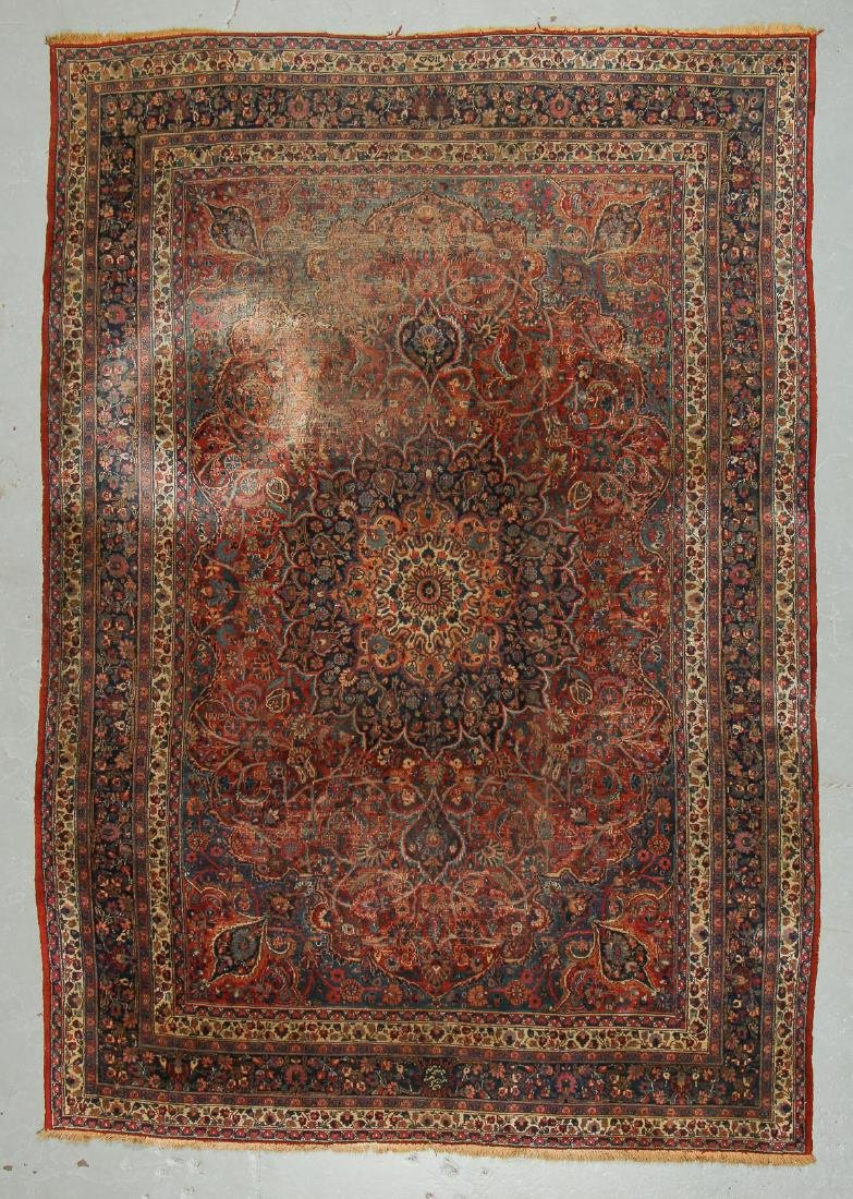 Antique Meshed Rug, Persia: 8'4'' x 11'10''
