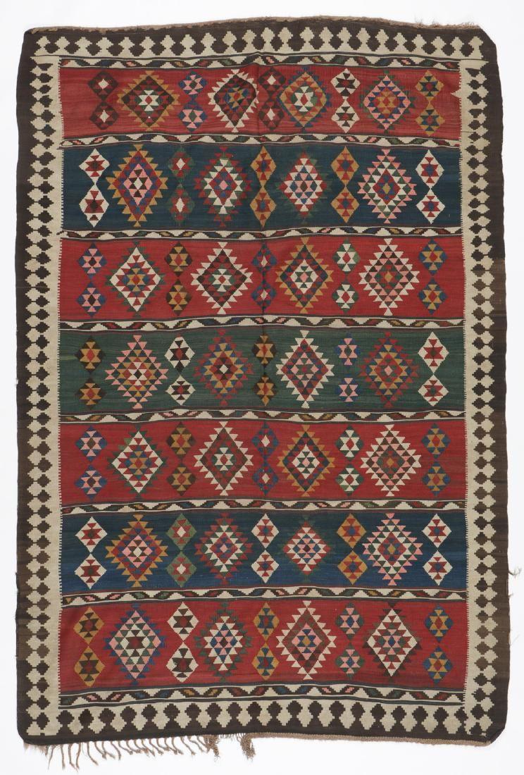 Antique Azeri Kilim, Persia: 5'10'' x 8'9''