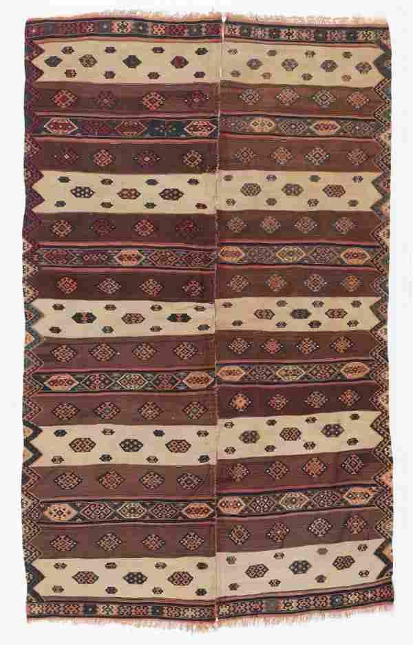 Antique Van Kilim, Turkey: 4'8'' x 7'7''
