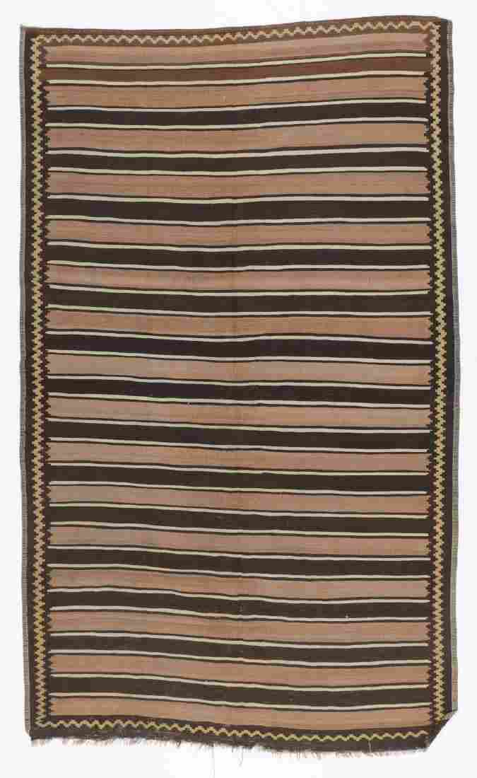 Antique Striped Kilim, Caucasus: 5'9'' x 9'6''