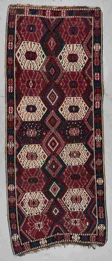 Antique East Anatolian Kurd Kilim, Turkey: 4'7'' x