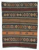 Antique Azeri Kilim, Caucasus: 4'10'' x 6'4''