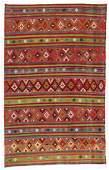 Semi-Antique Anatolian Kilim, Turkey: 6'2'' x 9'9''