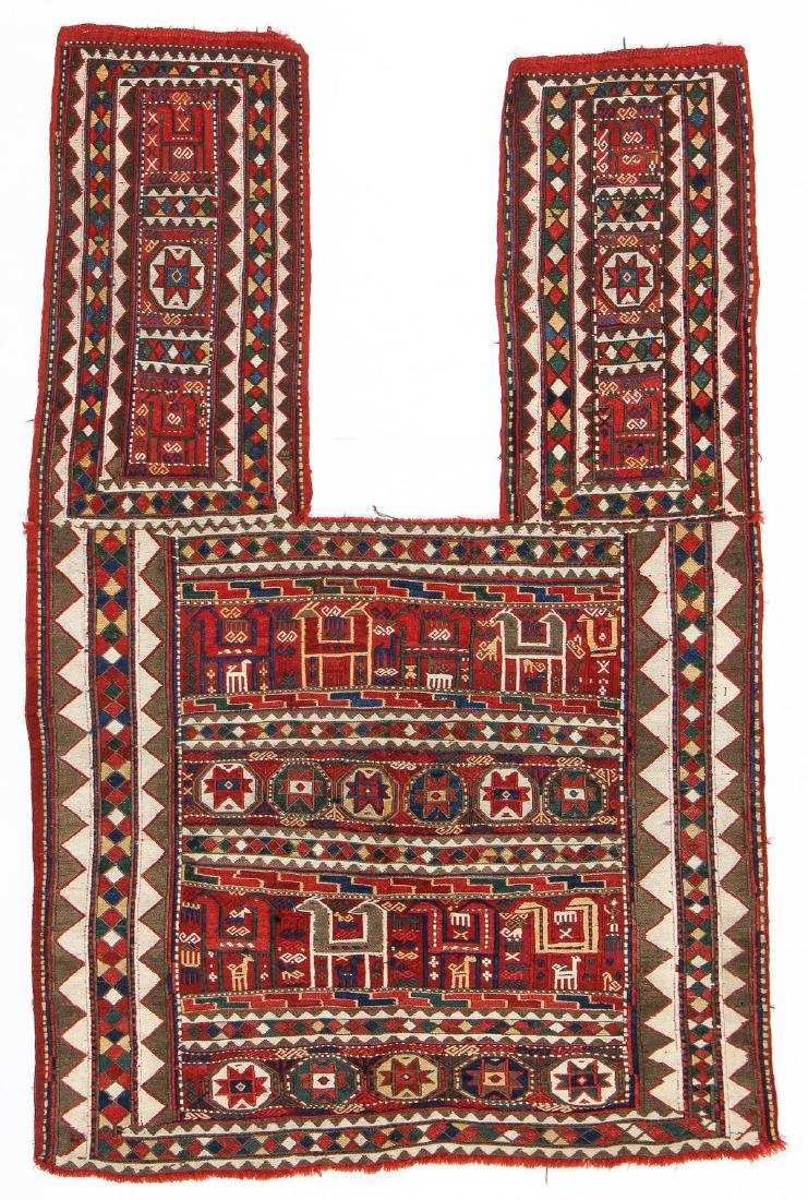 Karabagh Sumak Horse Cover, Caucasus, Late 19th C