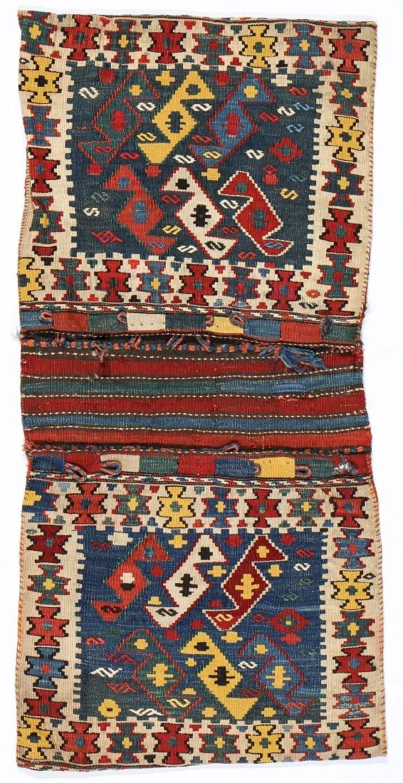Veramin Kurd Kilim Khorjin, Persia, Late 19th C