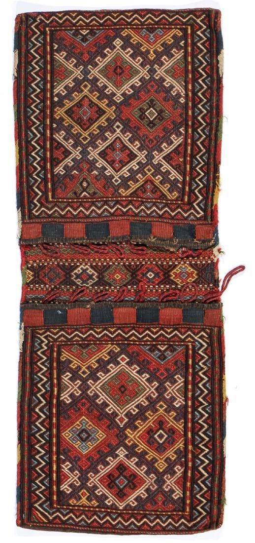 Azeri Flatwoven Sumak Khorjin, NW Persia, Late 19th C