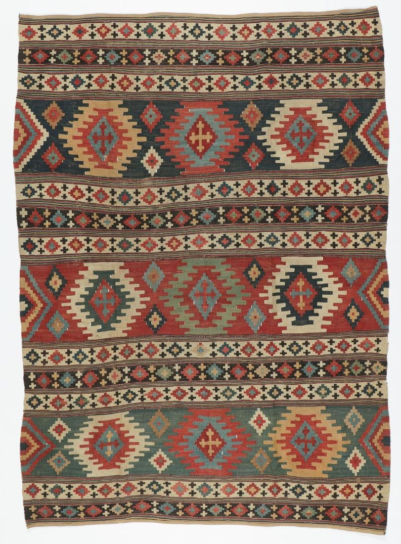 Shirvan Kilim, Caucasus, 19th C