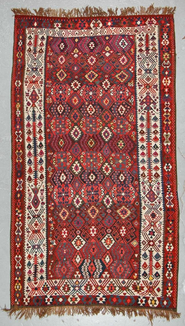 Fine East Anatolian Van Kilim, Late 19th C.