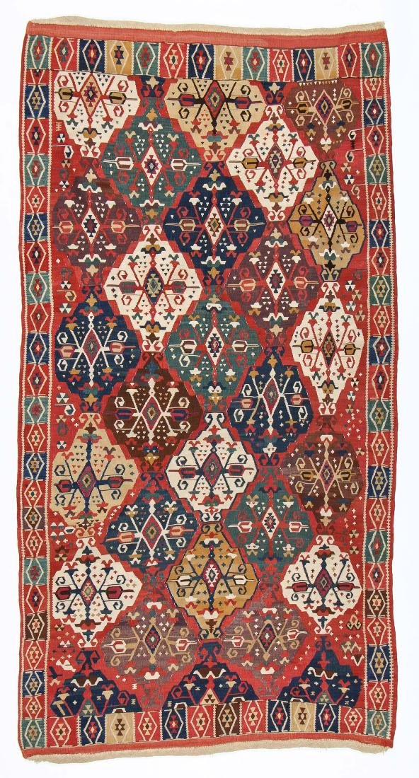 Fine East Anatolian Erzerum Kilim, 19th C.