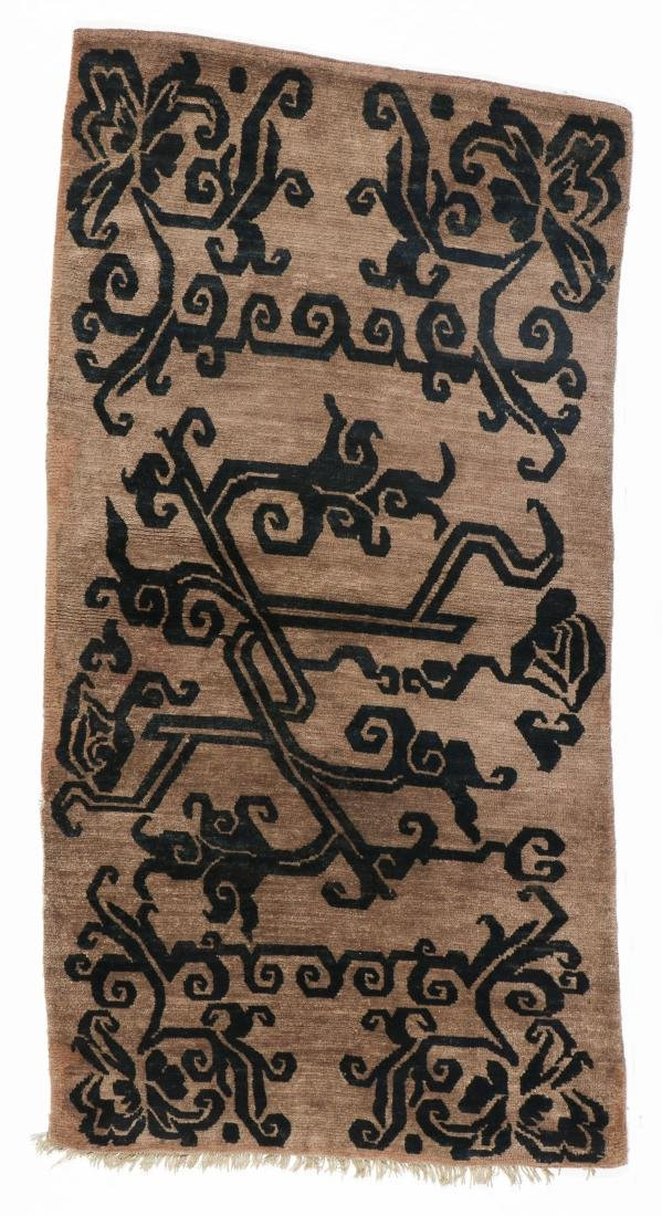 Antique Tibetan Khaden Rug, Tibet, Late 19th C