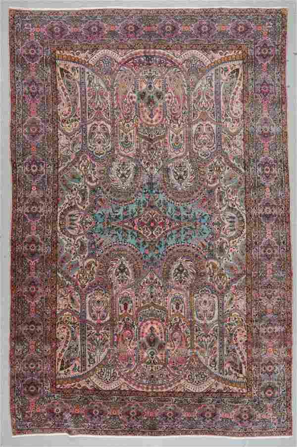 Antique Kerman Rug, Persia: 8'8'' x 13'1''