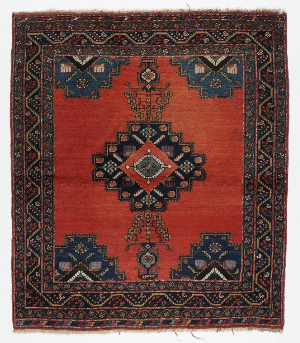 Antique Afshar Rug, Persia: 4'4'' x 5'0''