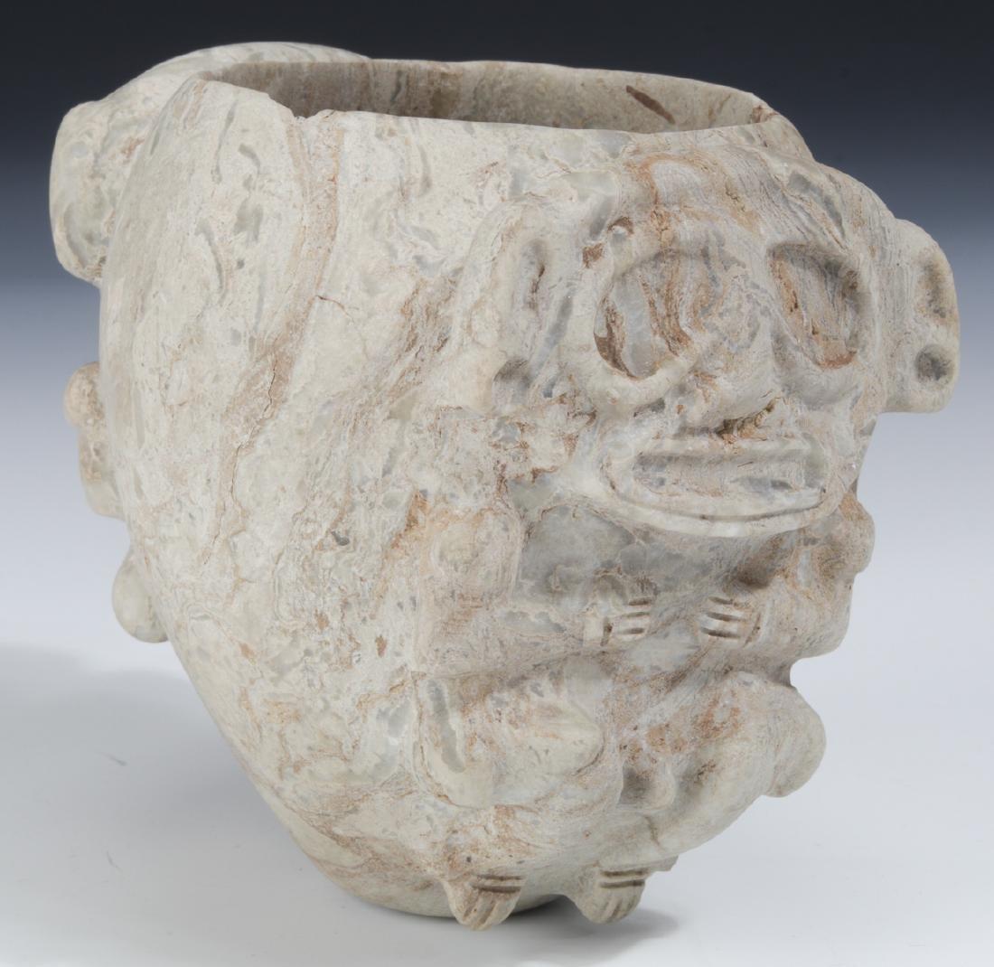 Taino Stone Ceremonial Cohoba Bowl (1000-1500 CE)