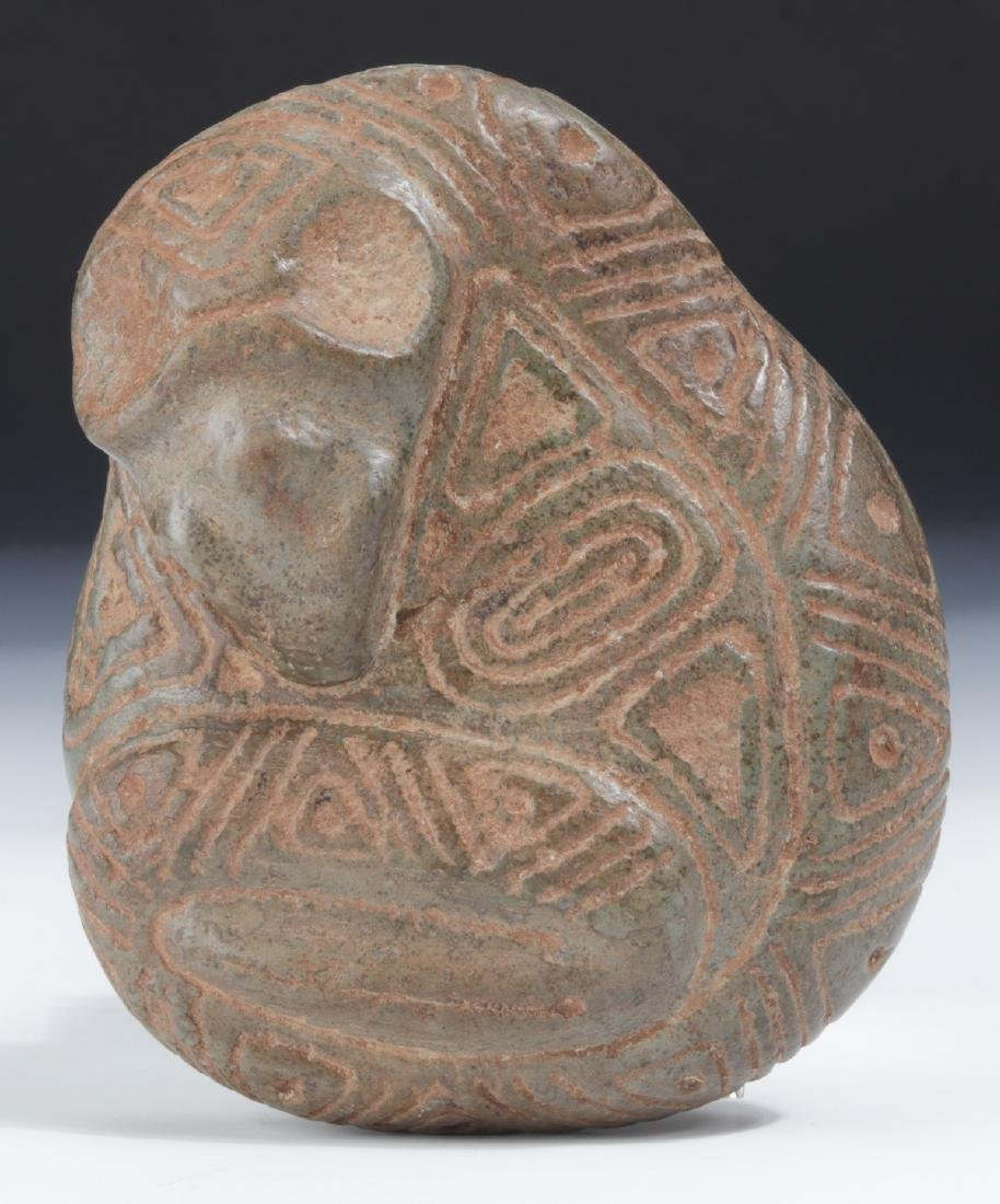 Taino Stone Bird Head Snake Effigy (1000-1500 CE)