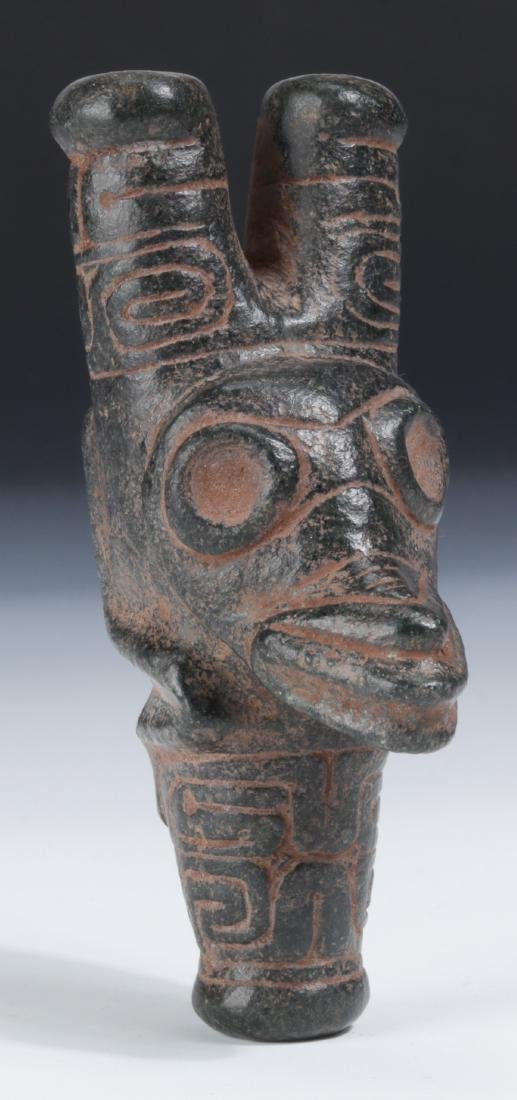 Taino Engraved Cohoba Inhaler in Human-Reptilian