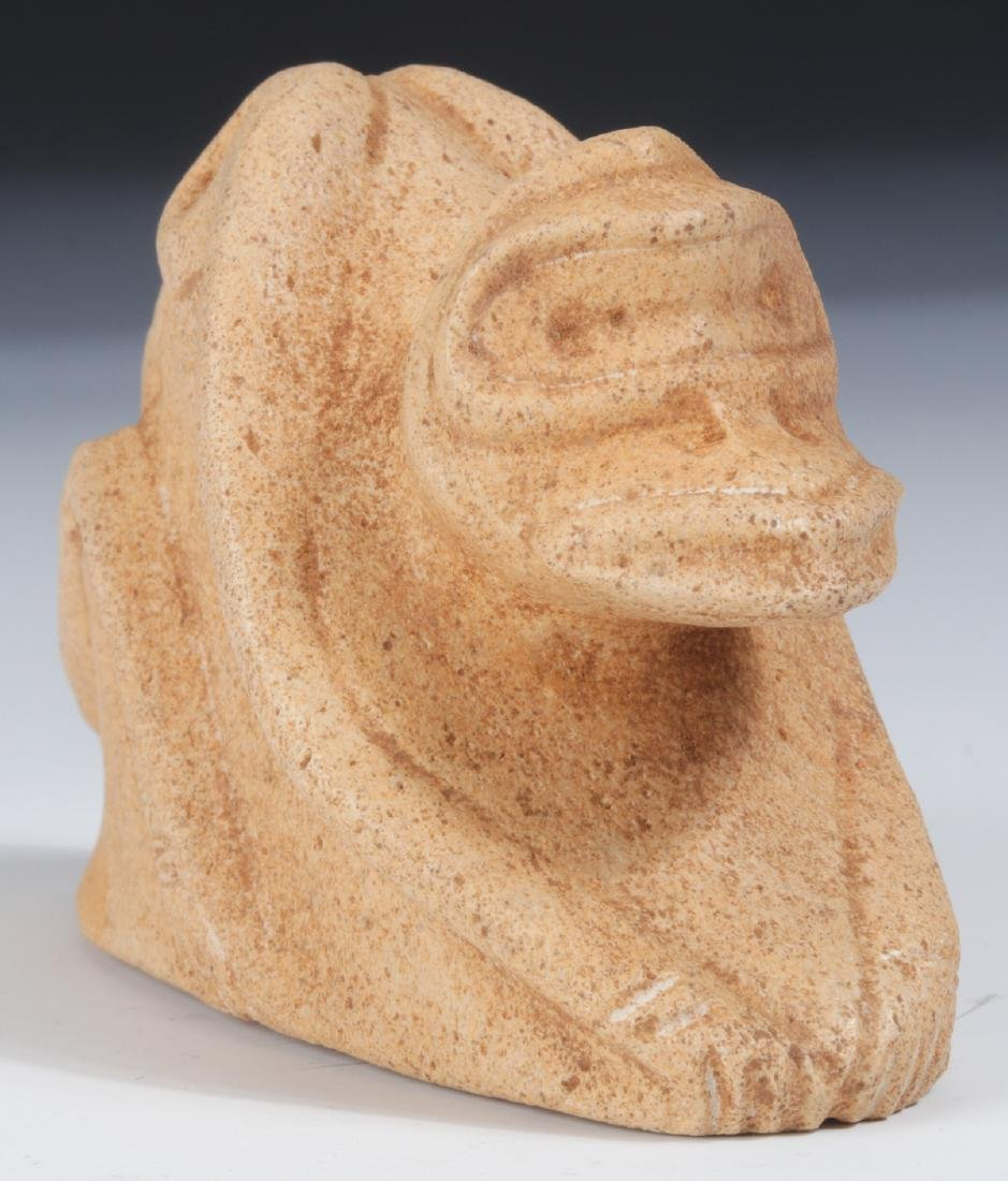 Taino Cemi/Stamp Depicting Human to Frog Transition