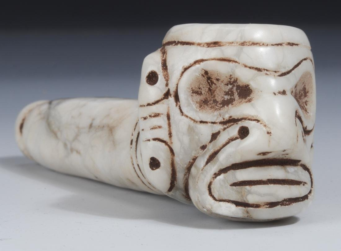 Taino Anthropic Pipe Face on Bowl (1000-1500 CE)