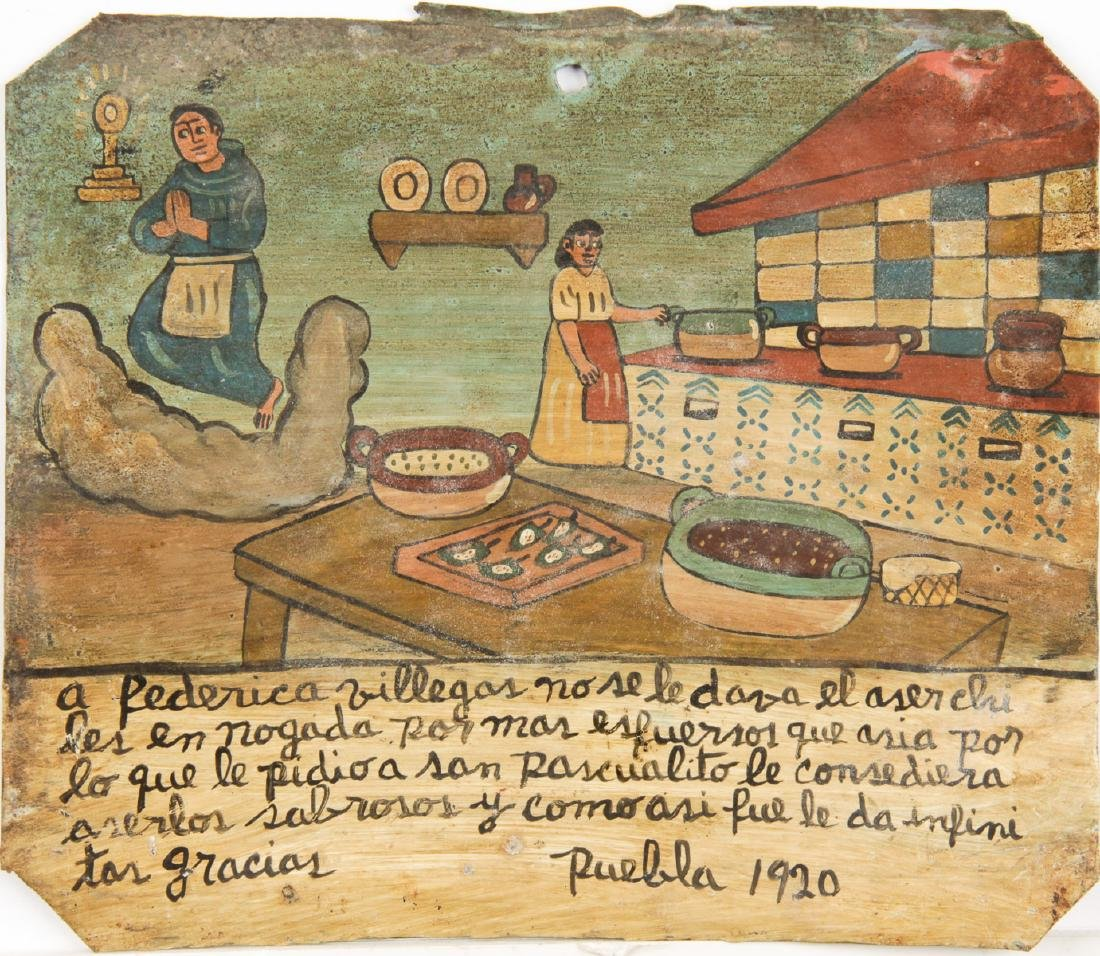 Retablo/Ex-voto (Mexican, 20th c.)