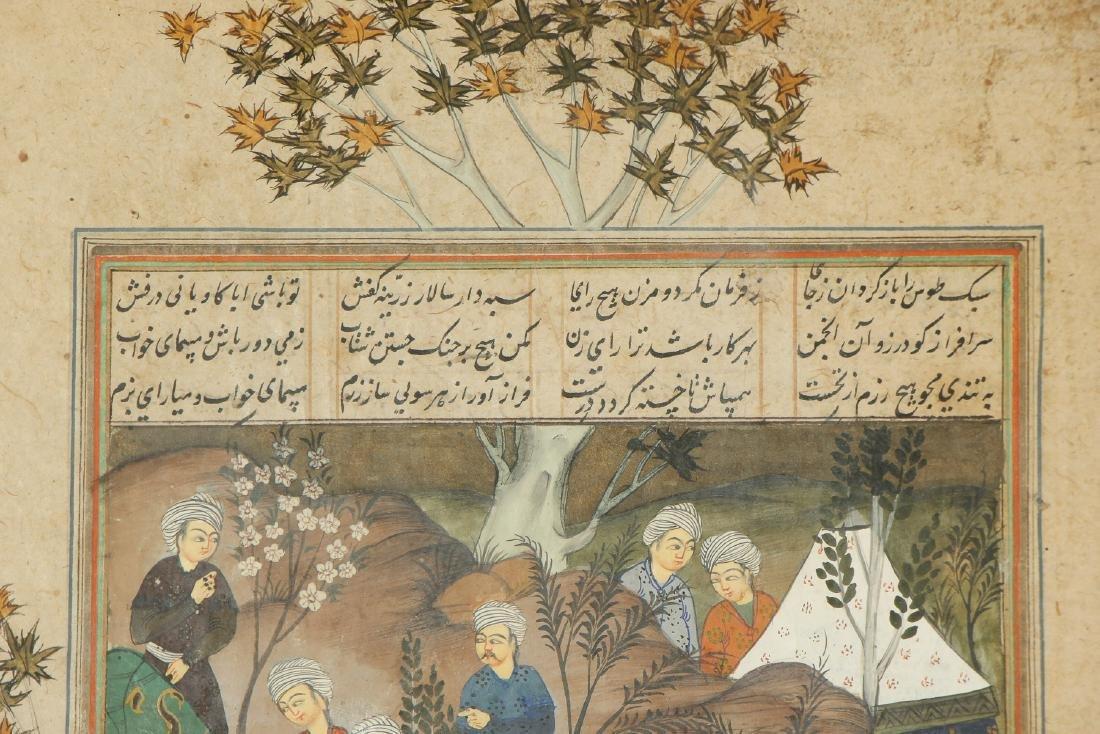 Antique Indo-Persian Miniature Painting - 3