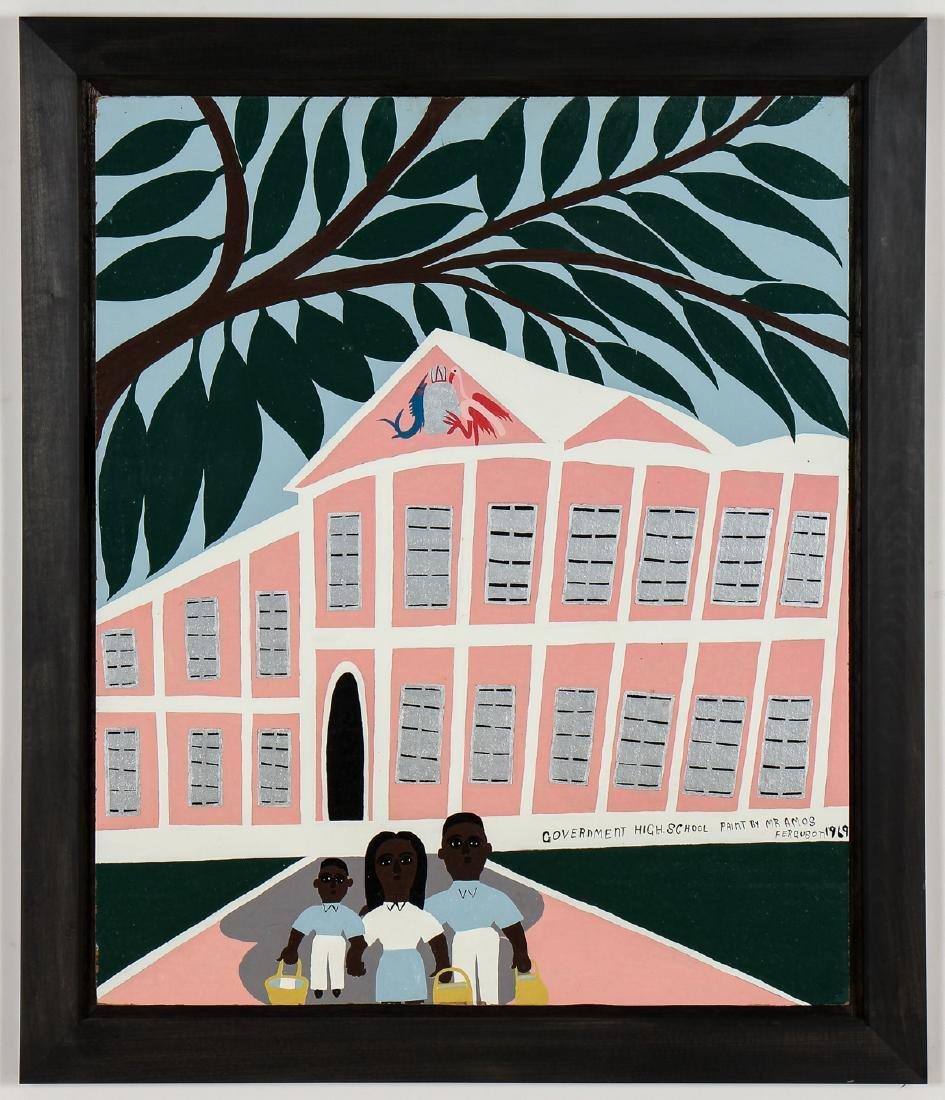 "Amos Ferguson (Bahamian, 1920-2009) ""Government High"