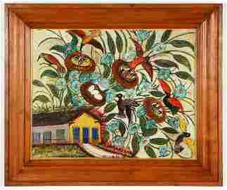 """Hector Hyppolite (Haitian, 1894-1948) """"Une Maison de"""