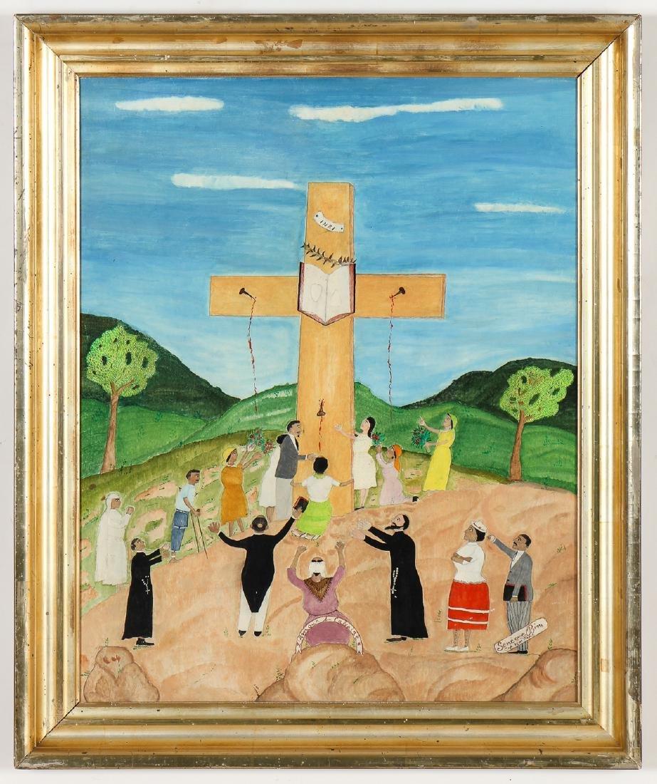 """Seneque Obin (Haitian/Cap-Haitien, 1893-1977) """"L'Amour"""
