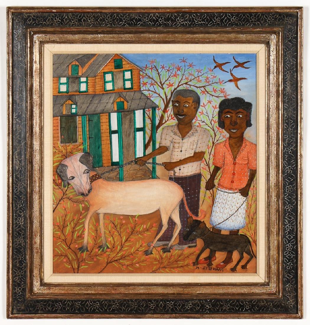 """Micius Stephane (Haitian/Bainet, 1912-1996) """"Bourgeois"""