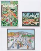 3 Haitian (20th c.) Paintings: Jerome Polycarpe,