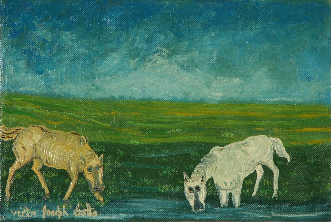 Victor Joseph Gatto (1893-1965) Landscape with Horses