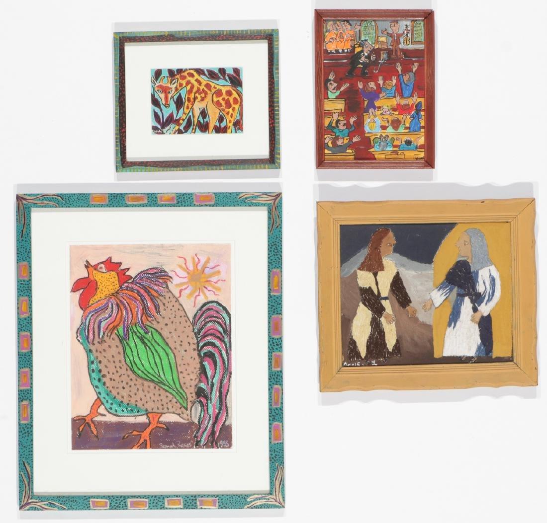 4 Works by Various Artists: Sarah Rakes, Hope Atkinson,