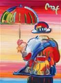 Peter Max (American, b. 1937) Umbrella Man