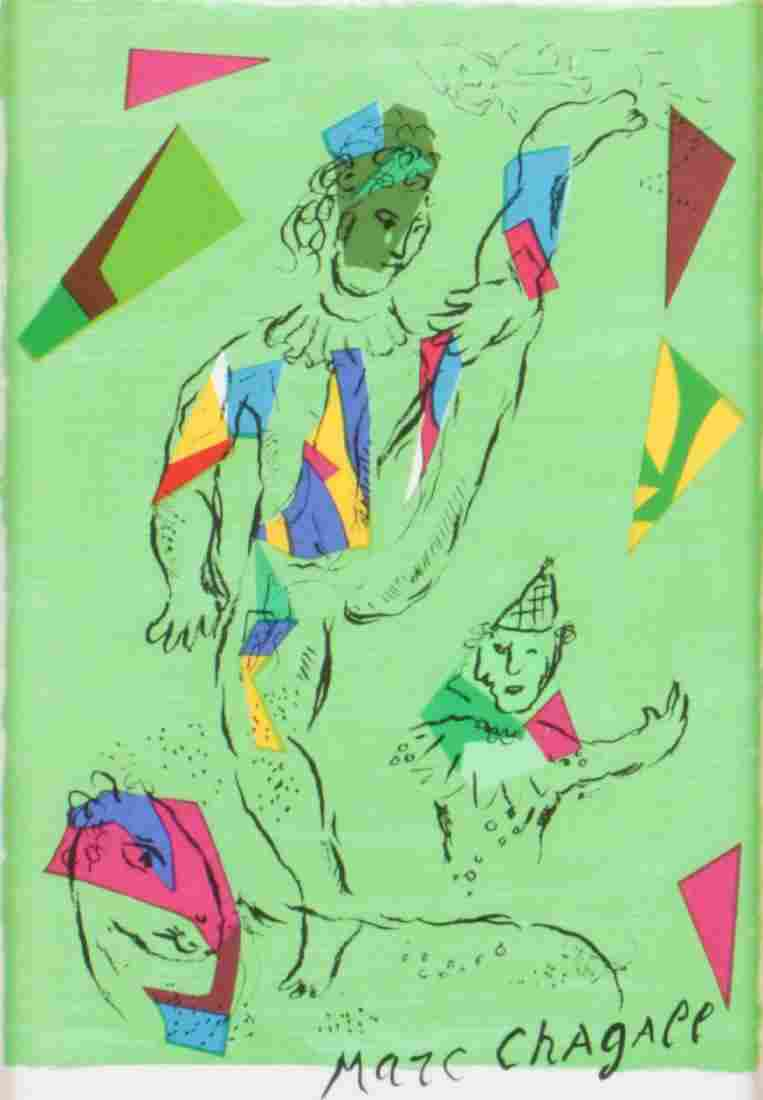 """Marc Chagall (1887-1885) """"Acrobat"""", from Derriere Le"""