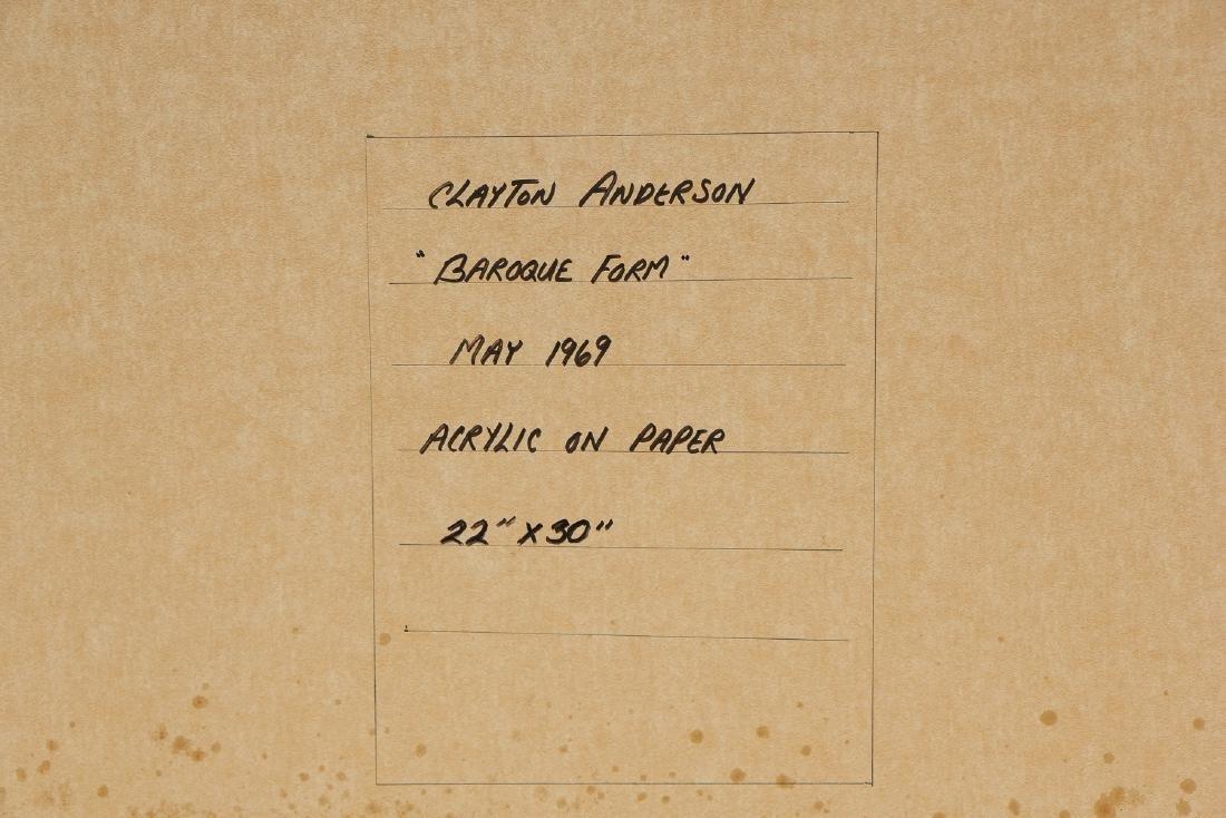 """Clayton Anderson (b. 1943) """"Baroque Form"""", 1969 - 4"""