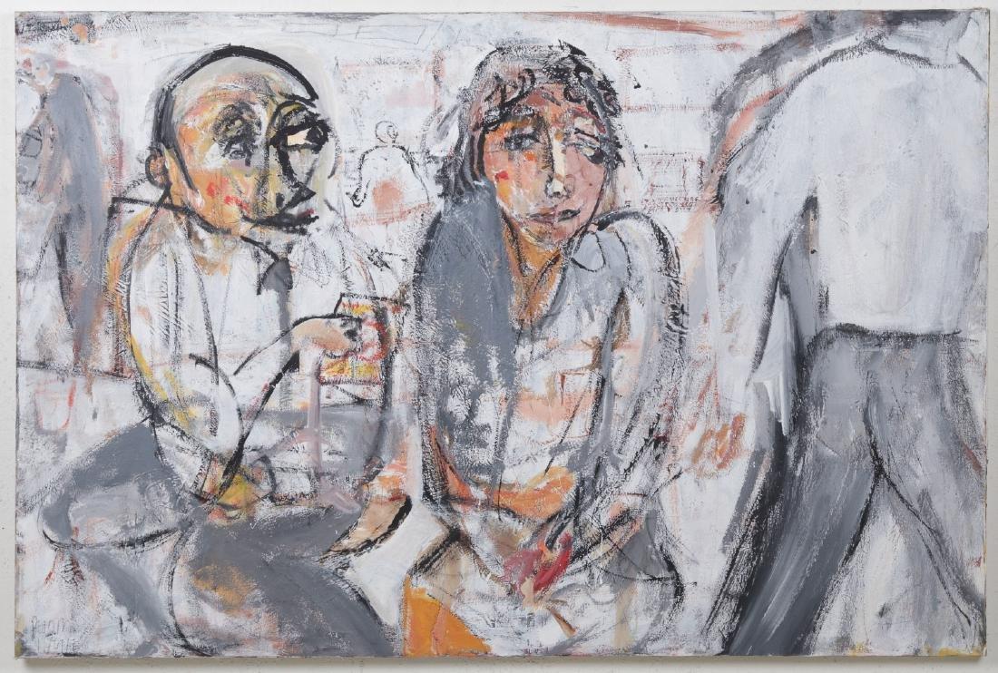 Jim Bloom (b. 1968) Mixed Media Painting