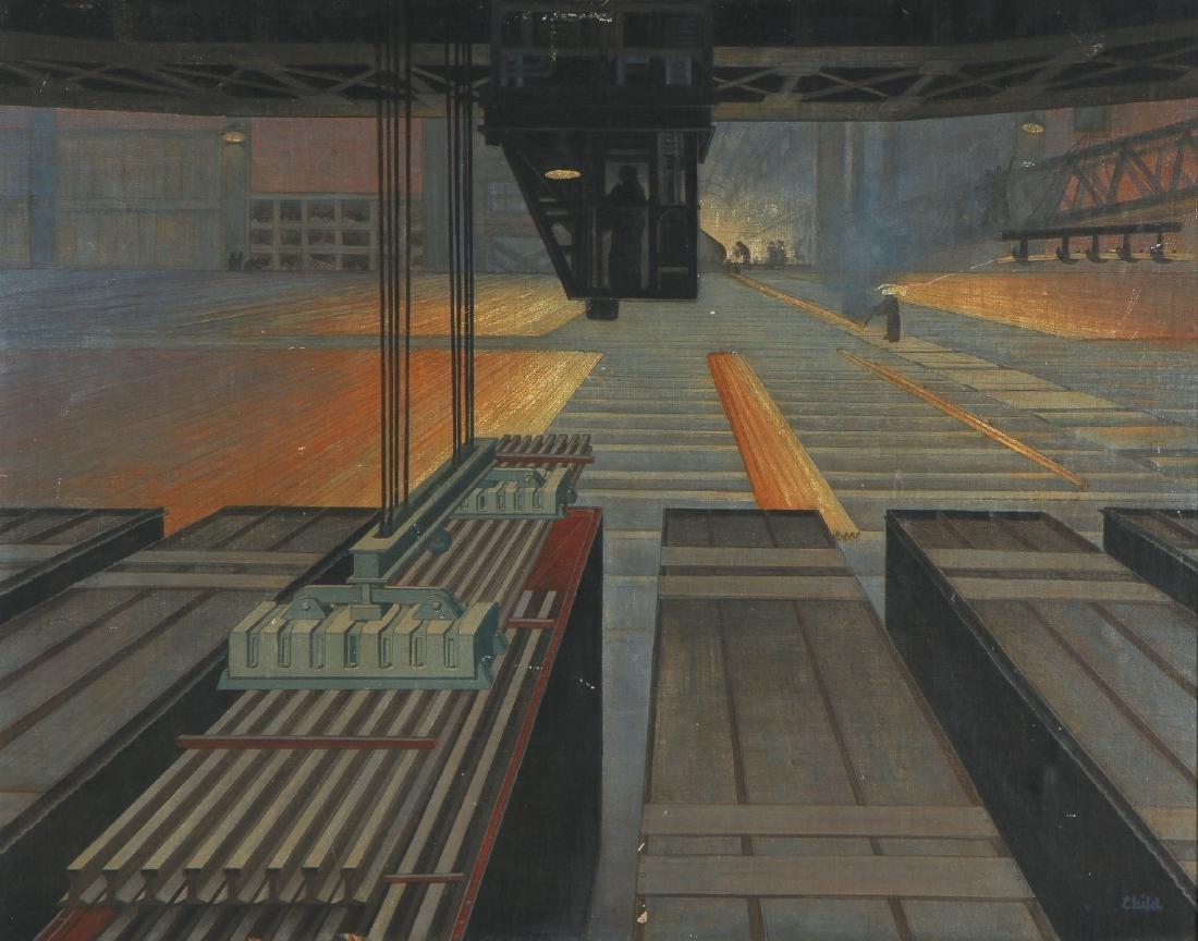 "Charles Child (American, 1902-1983) ""Steel Mill"""