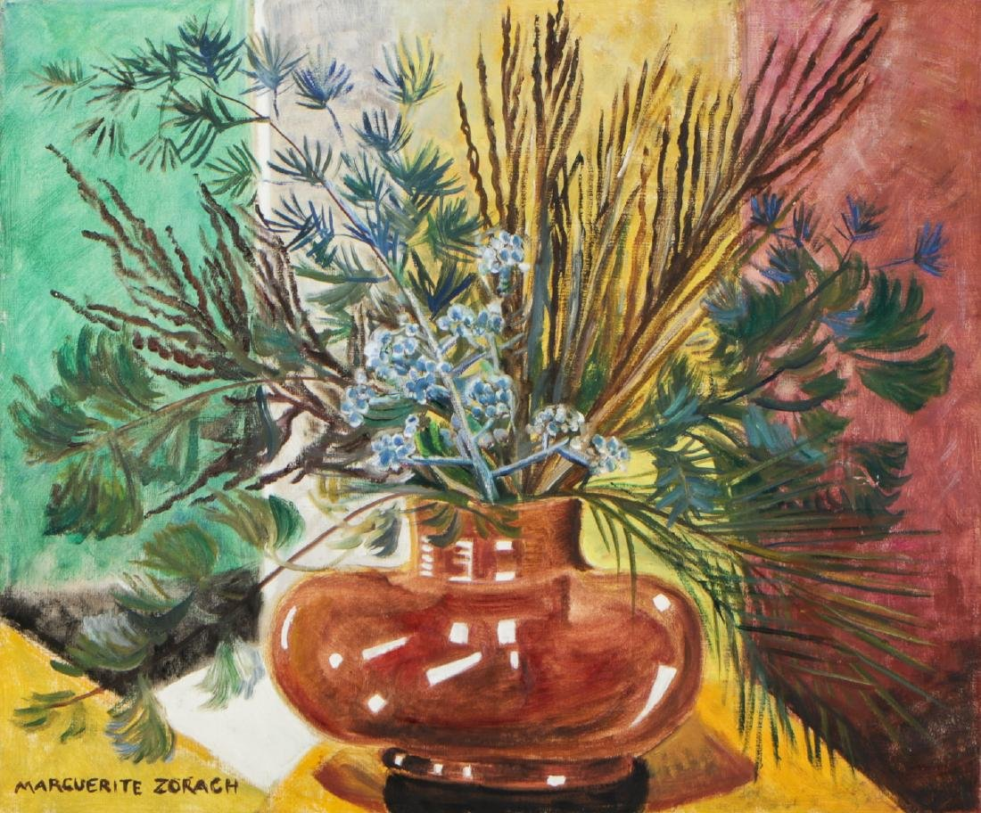 Marguerite Zorach (1887-1968) Winter Still Life, 1956