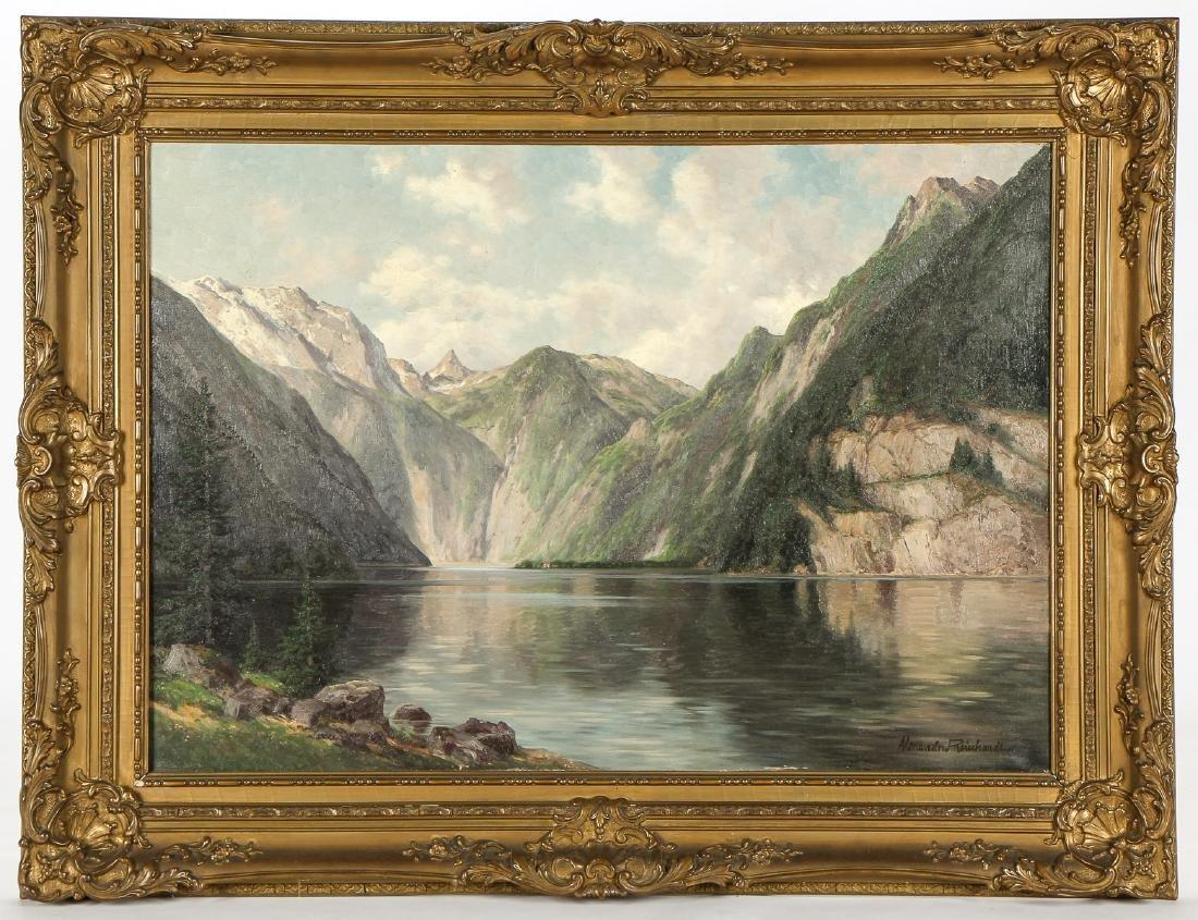 """Alexander Reinhardt """"King's River, Bavaria"""" Landscape"""
