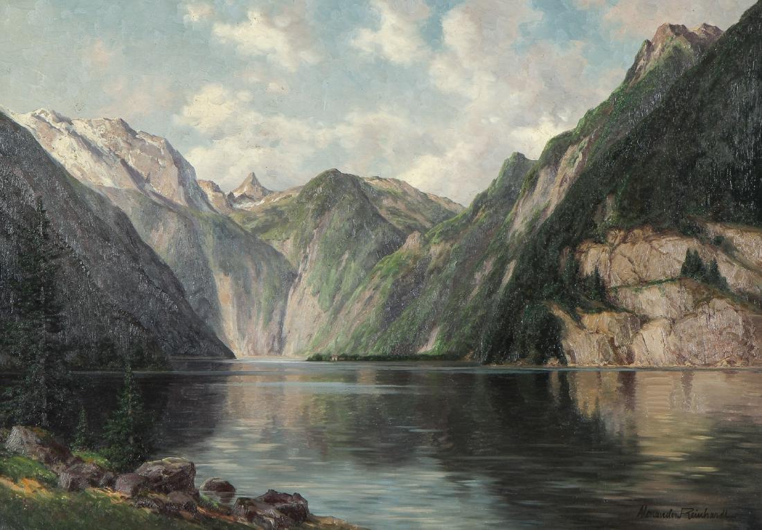 """Alexander Reinhardt """"King's River, Bavaria"""" Landscape - 2"""