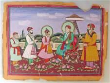 19th C. Indian Miniature Painting, Jaipur